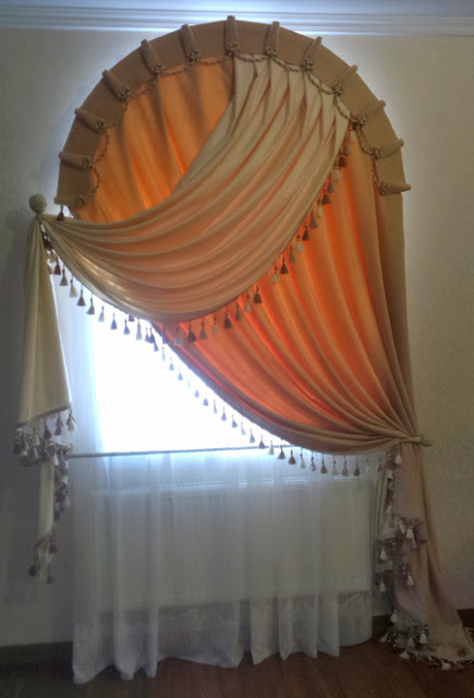 arch window curtain design
