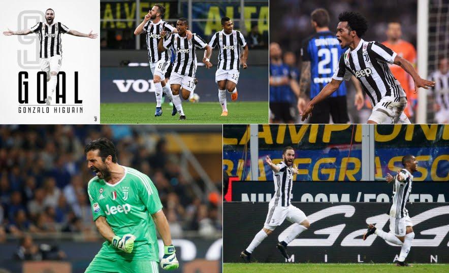 Inter Juventus con finale thrilling: 2-3 con risultato deciso da Higuain contro i nerazzurri in 10 dal 18'