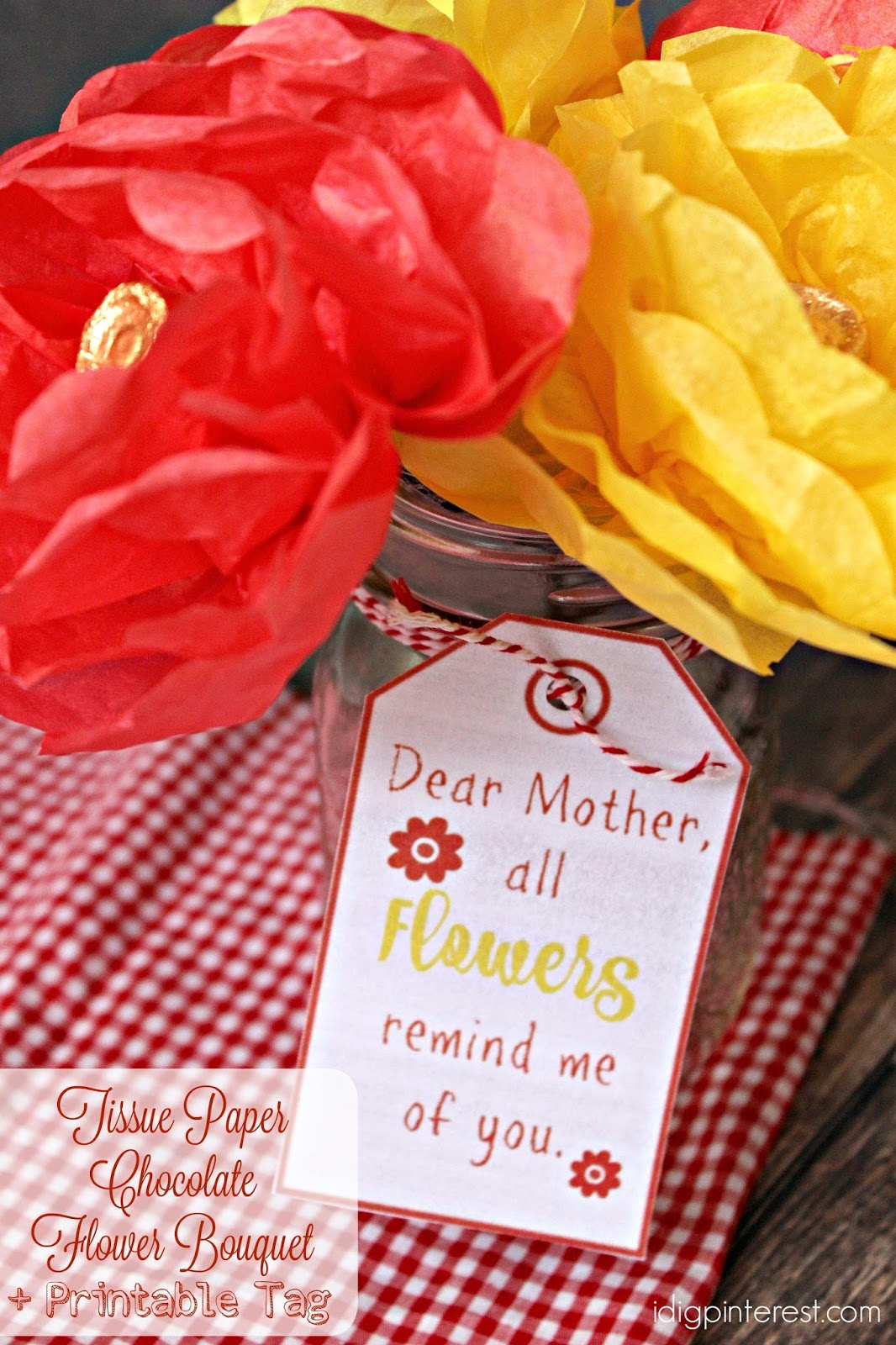 Tissue Paper Chocolate Flower Bouquet An Easy Diy Mother S Day Gift