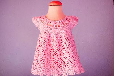 1 - Crochet Imagen Vestido rosa a crochet y ganchillo Majovel Crochet