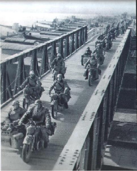 6 April 1941 worldwartwo.filminspector.com Operation Marita motorcycle troops