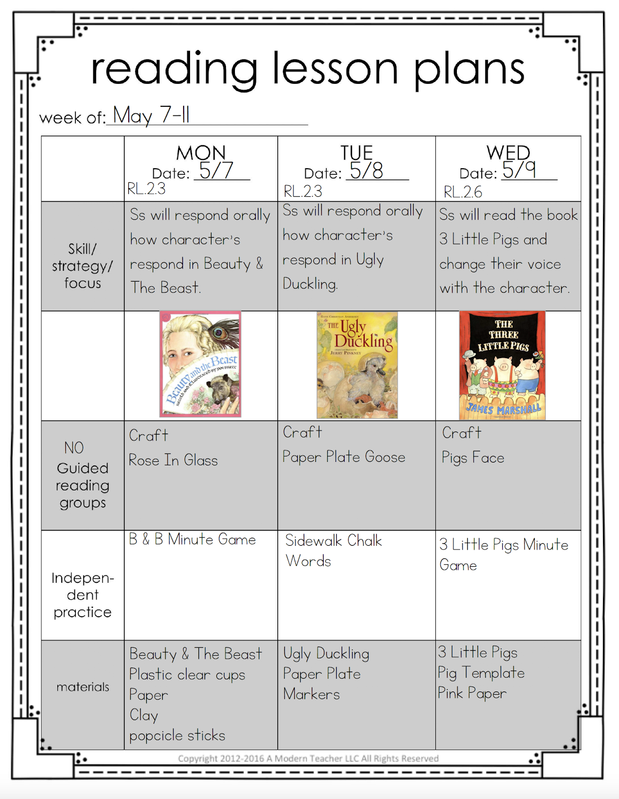 Learning Lessons With Amy Labrasciano Ela Lesson Plans