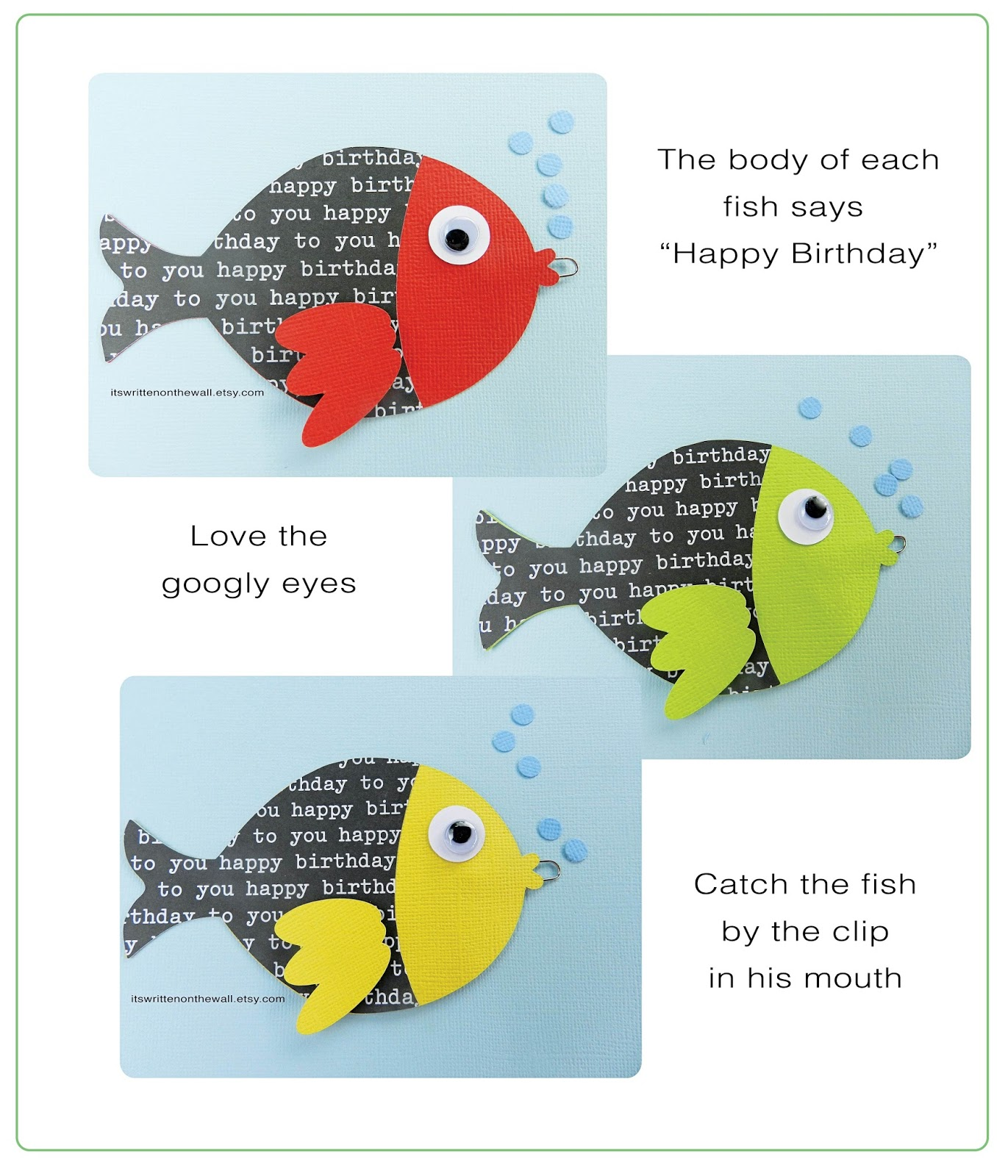 It's Written On The Wall: GO FISH Birthday Party Game For