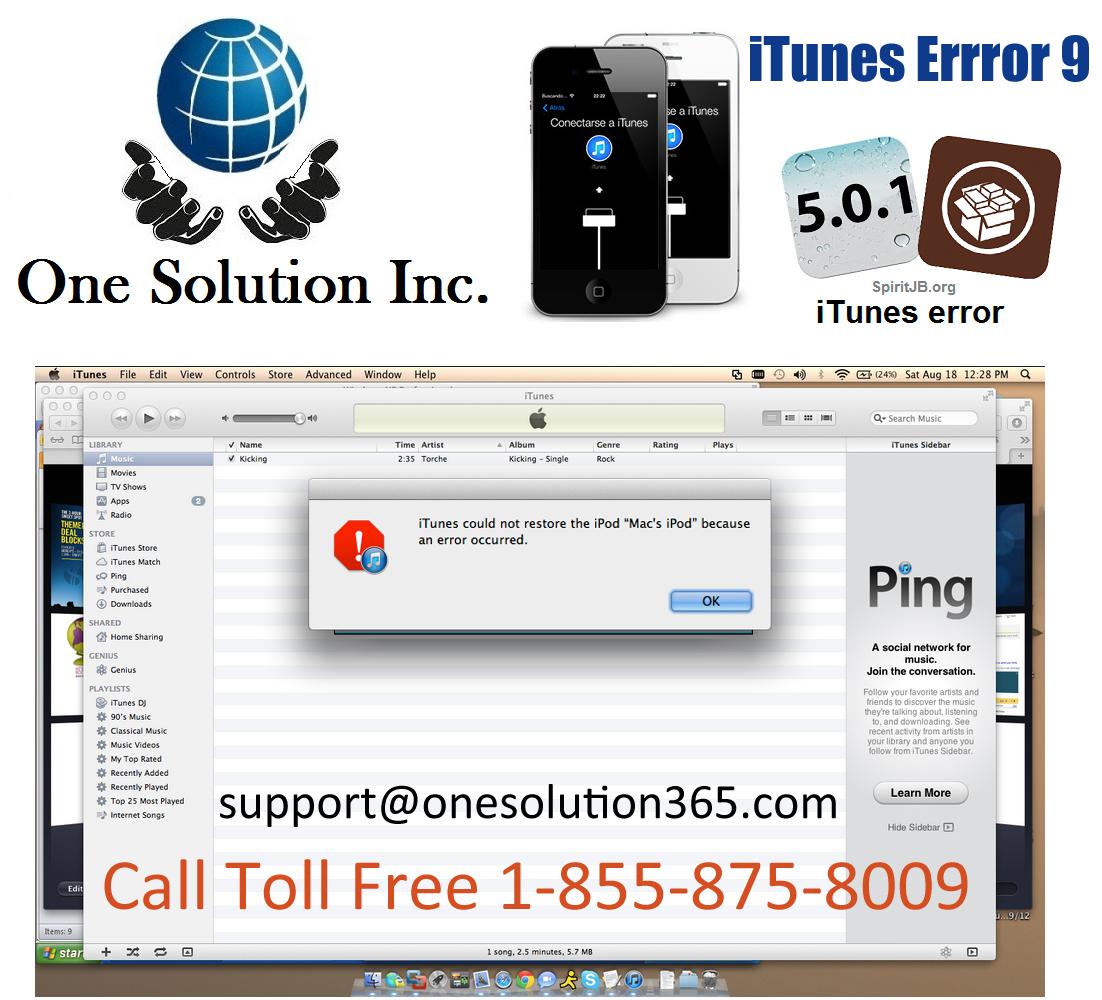 Itunes download error.