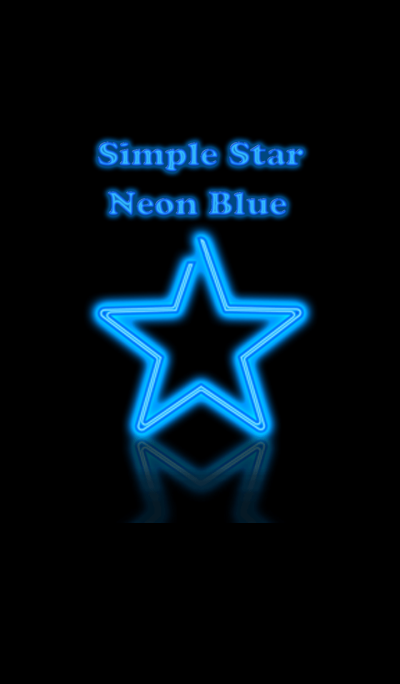 Simple Star Neon Blue