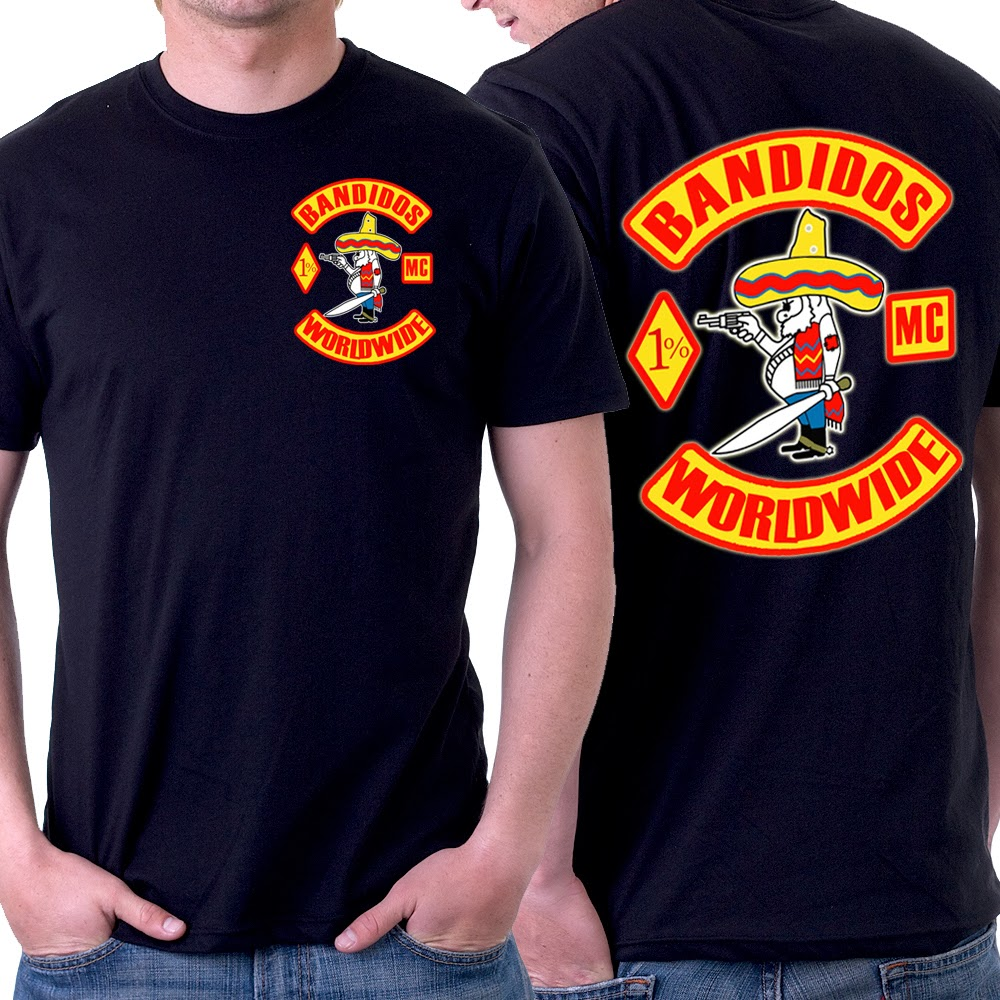 Motorcycle club new t shirt 2 side bandidos mc 2 side for T shirts for clubs