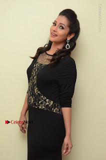Telugu Actress Manasa Manohar Stills in Black Long Dress at Naku Nene Thopu Turumu Trailer Launch  0031.JPG