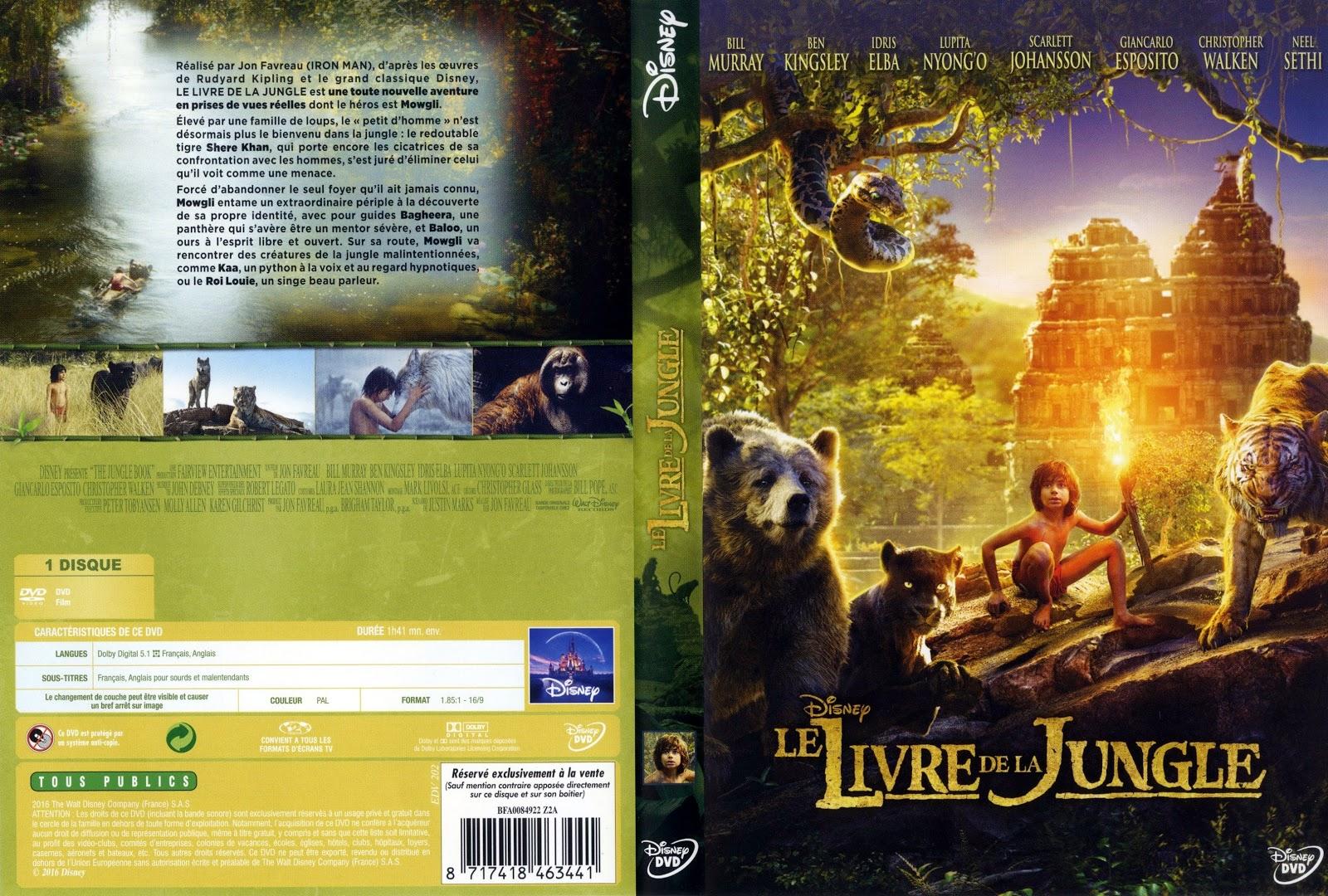 Jaquette dvd jaquette dvd le livre de la jungle 2016 for Le livre de
