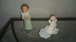 Anjo de biscuit para batizado, topo de bolo