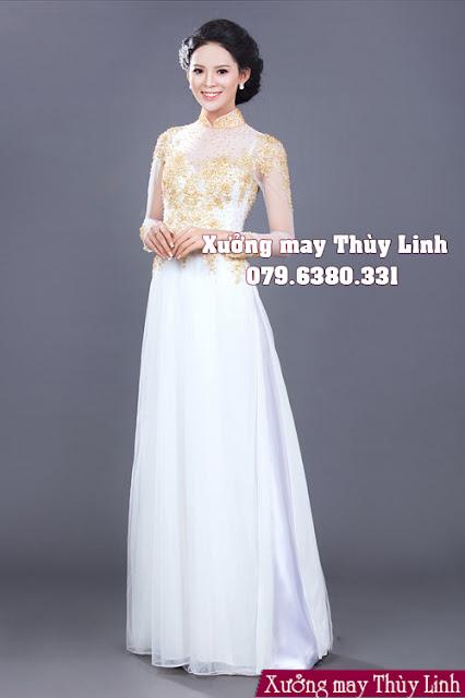 Mẫu áo dài cưới cách tân trẻ trung và hiện đại trong năm 2019