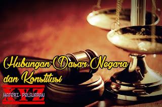 Konstitusi, Dasar Negara, Indonesia, Hubungan. | www.materi-pelajaran.xyz