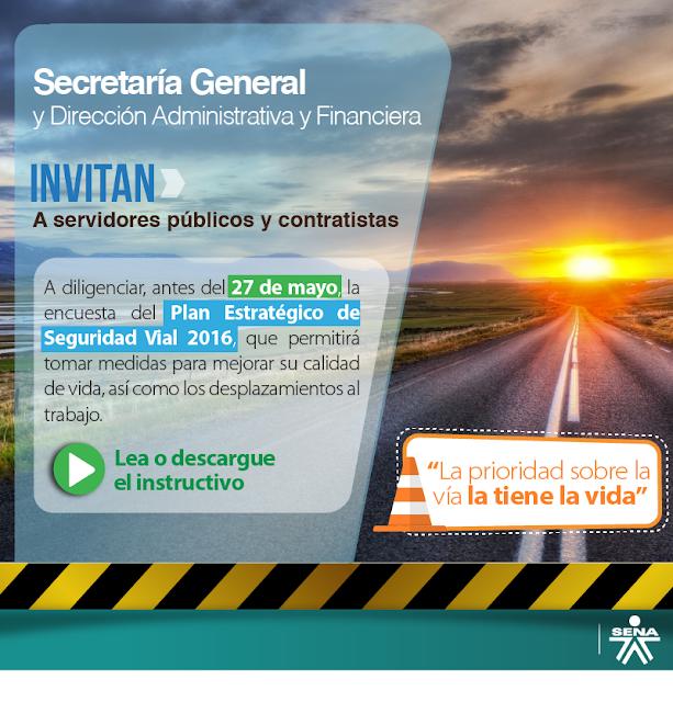 Encuesta Plan Estratégico de Seguridad vial- SENA CAUCASIA