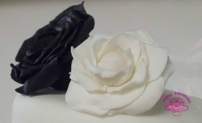 Rosas de fondant
