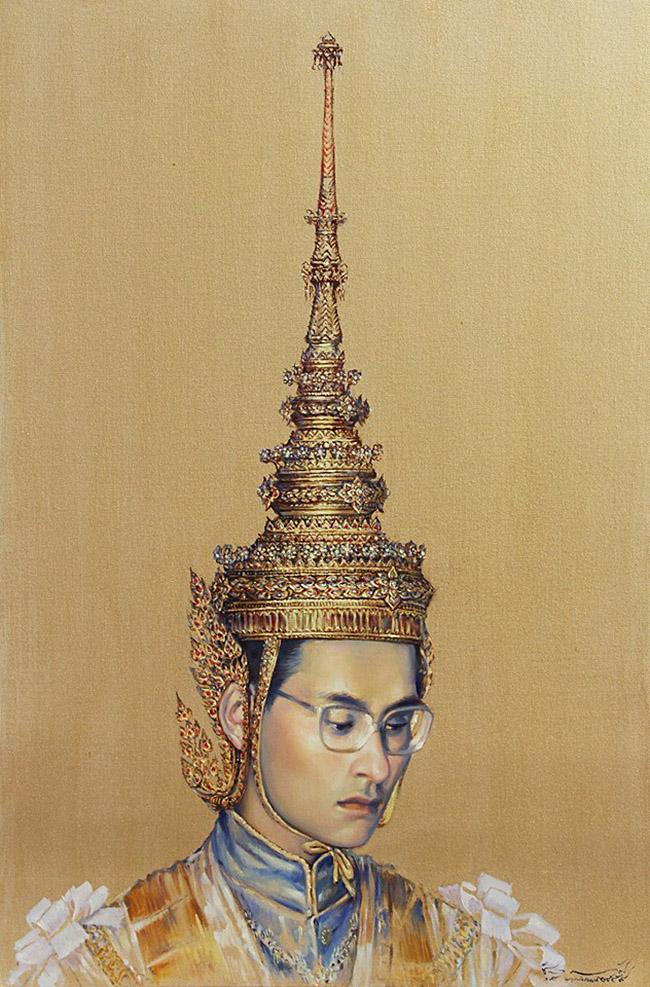Chatchawan Rodklongtan ชัชวาล รอดคลองตัน - Thai King Rama IX Art