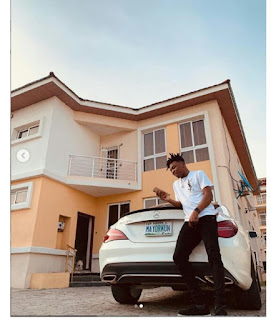 Singer, Mayorkun Buys Himself A Brand New Mercedes-Benz CLA-Class Ahead Of His 25th Birthday [Photos]