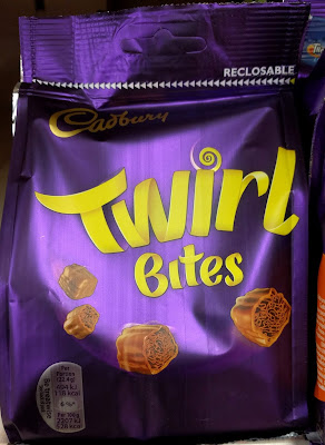 Cadbury Twirl bites chocolate
