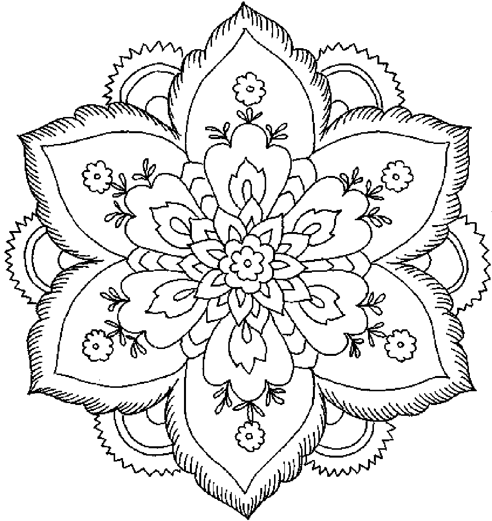 Adult Coloring Pages (Printable) | coloring pages for adults flowers
