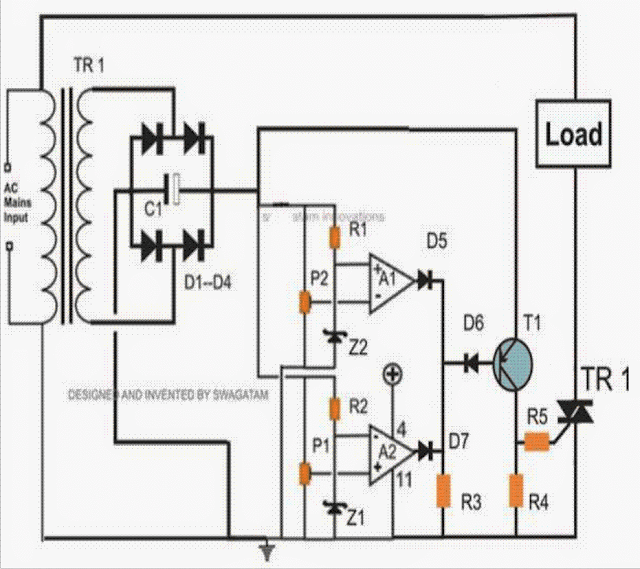 using triac for cutting mains high and low voltage peaks