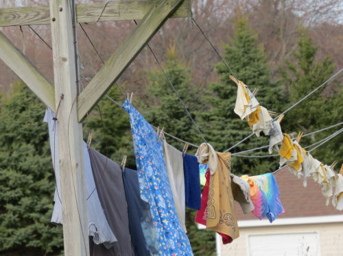 clothes on clothesline