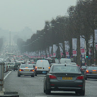 Commuter traffic in Paris. (Credit: Radovan Bahna) Click to Enlarge.