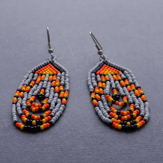 где купить самые красивые серьги из бисера в стиле этно индейские украшения