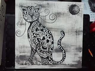 podkłądka na zamówienie kot  wzory akryl drewno sklejka kolory