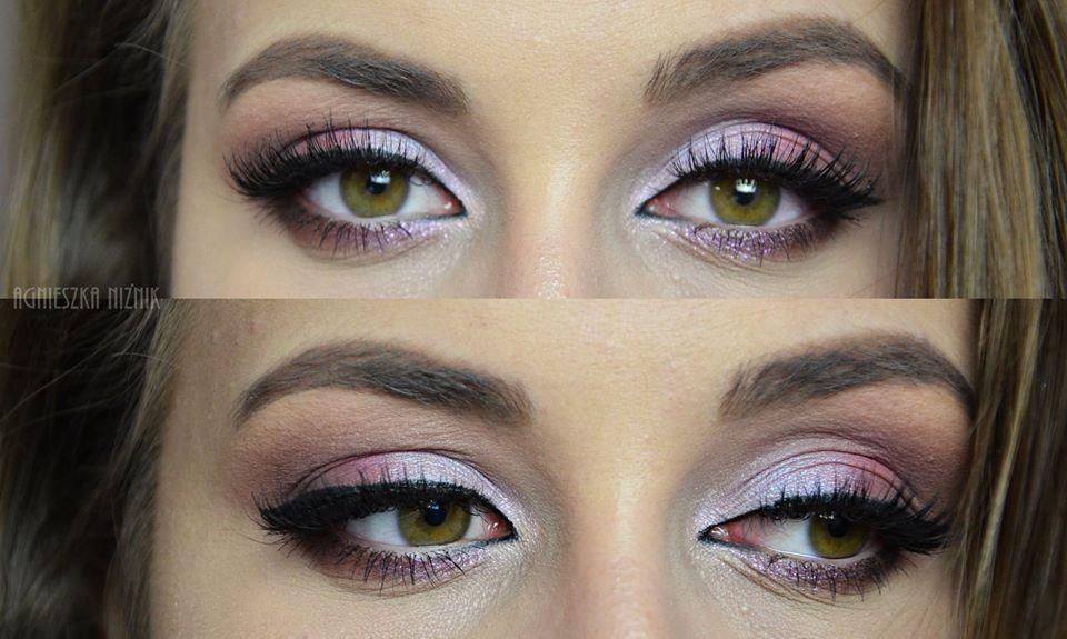 makijaż w fioletach melkior cienie blog
