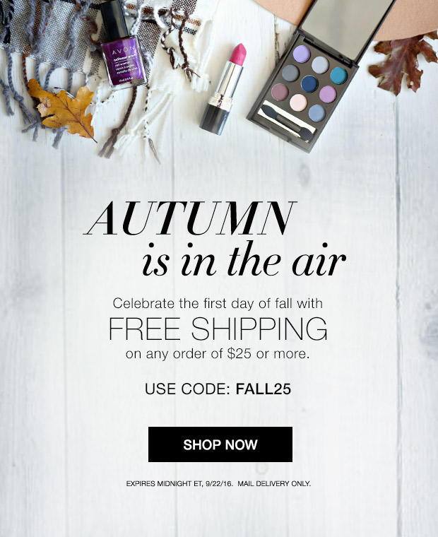 Free Avon Shipping on $25 September 2016