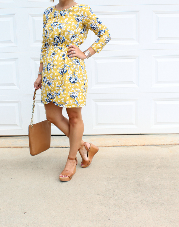 j. crew factory dress, fall fashion