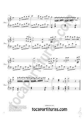 2 Partitura de Ensueño de Luz para Piano Composición por diegosax partituras