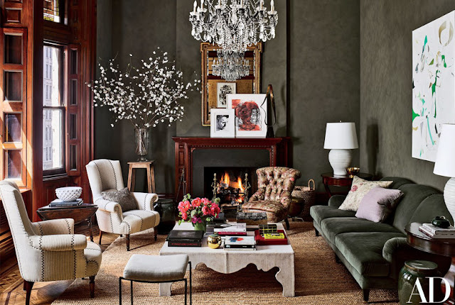 Jessica Chastain living room by Carrier and Company