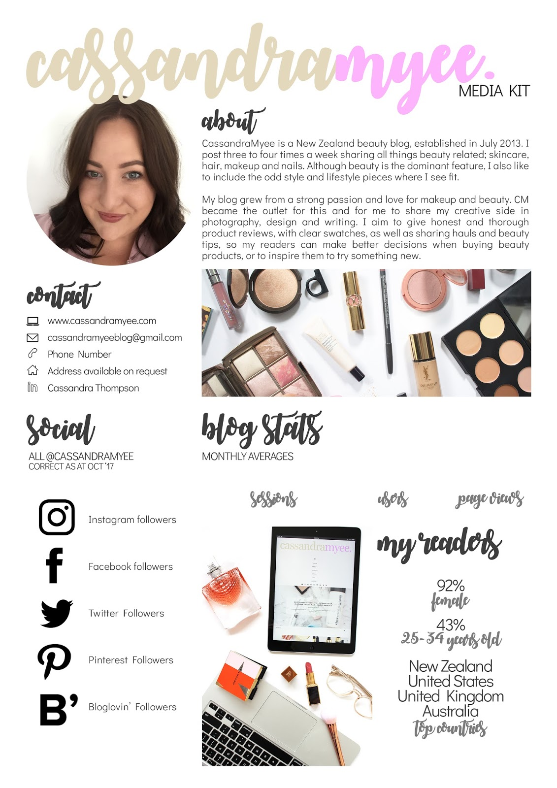 MEDIA KIT BASICS | From one blogger to another - CassandraMyee