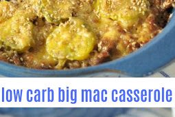 low carb big mac casserole