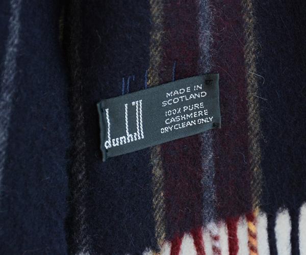 ヴィンテージ90年代dunhillダンヒルスコットランド製カシミアマフラースーツイギリスFUNS福島古着