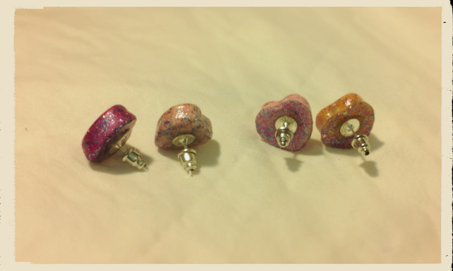 Back of Candy Heart Stud Earrings