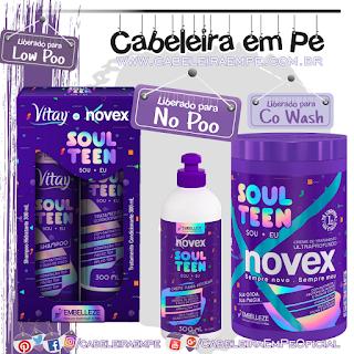 Shampoo Vitay (Low Poo), Condicionador, Máscara e Creme para Pentear (Liberados para No Poo) Soul Teen - Novex