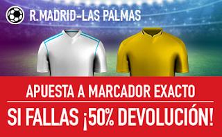sportium promocion Real Madrid vs Las Palmas 5 noviembre