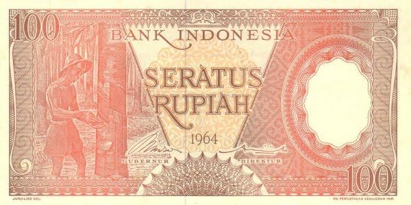 Rp100 tahun 1964