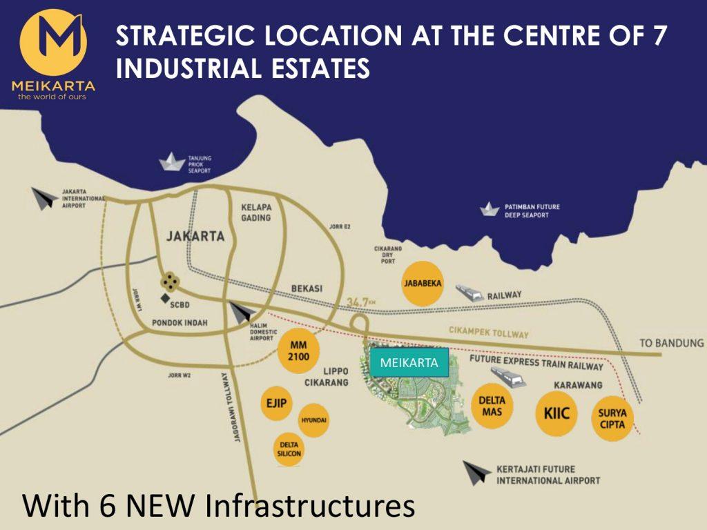 Peta Lokasi Meikarta Aparteman Megah Lippo Cikarang