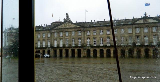 Praça do Obradoiro, Santiago de Compostela, Galícia, Espanha