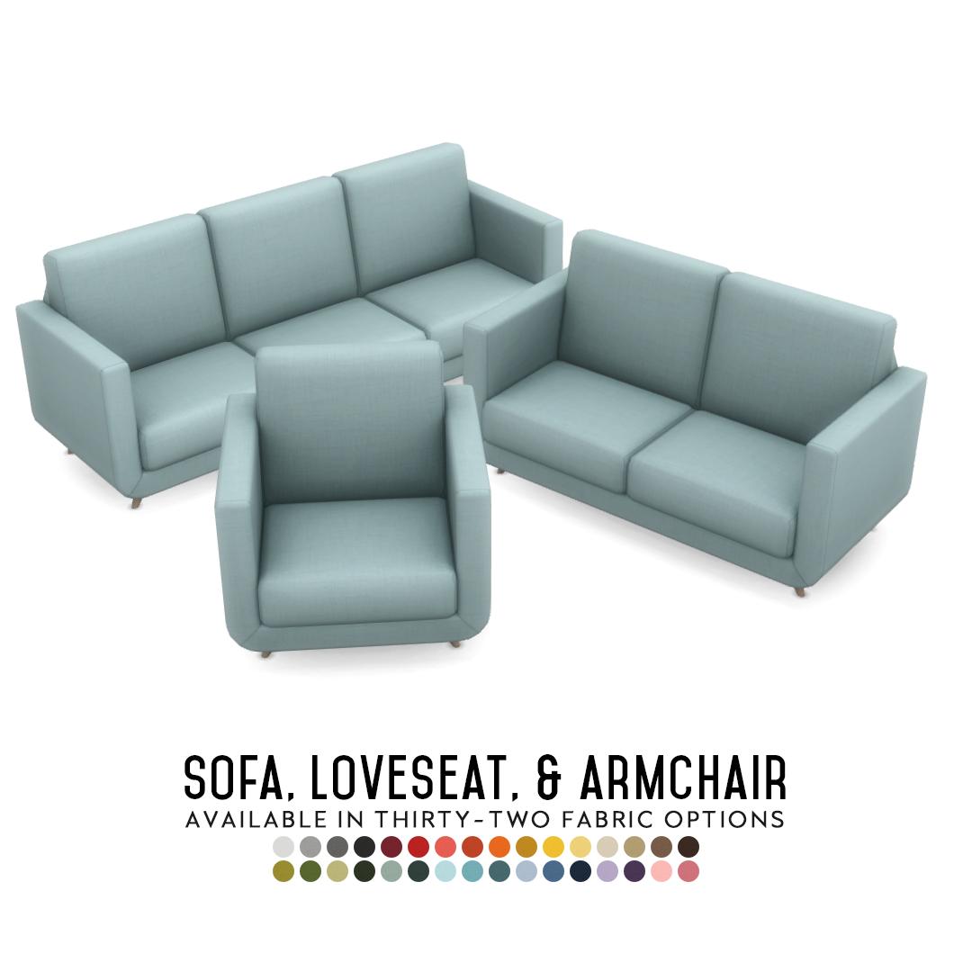 Simsational Designs Phoebe Sofa Suite Matching Sofa