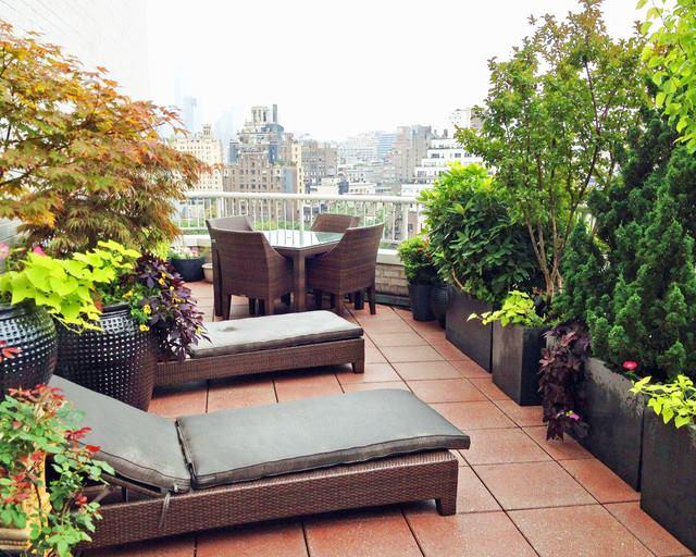 16 Konsep Taman Kecil di Atap Rumah Bagus