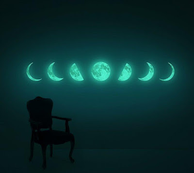 Moon Phase Glow In The Dark Wall Sticker