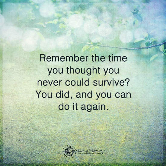 Remember The Time You Thought You Never Could Have Survive You Did Cool Survival Quotes