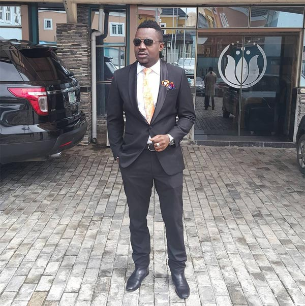 Mr. Raw looks dapper as he attends wedding in Port Harcourt