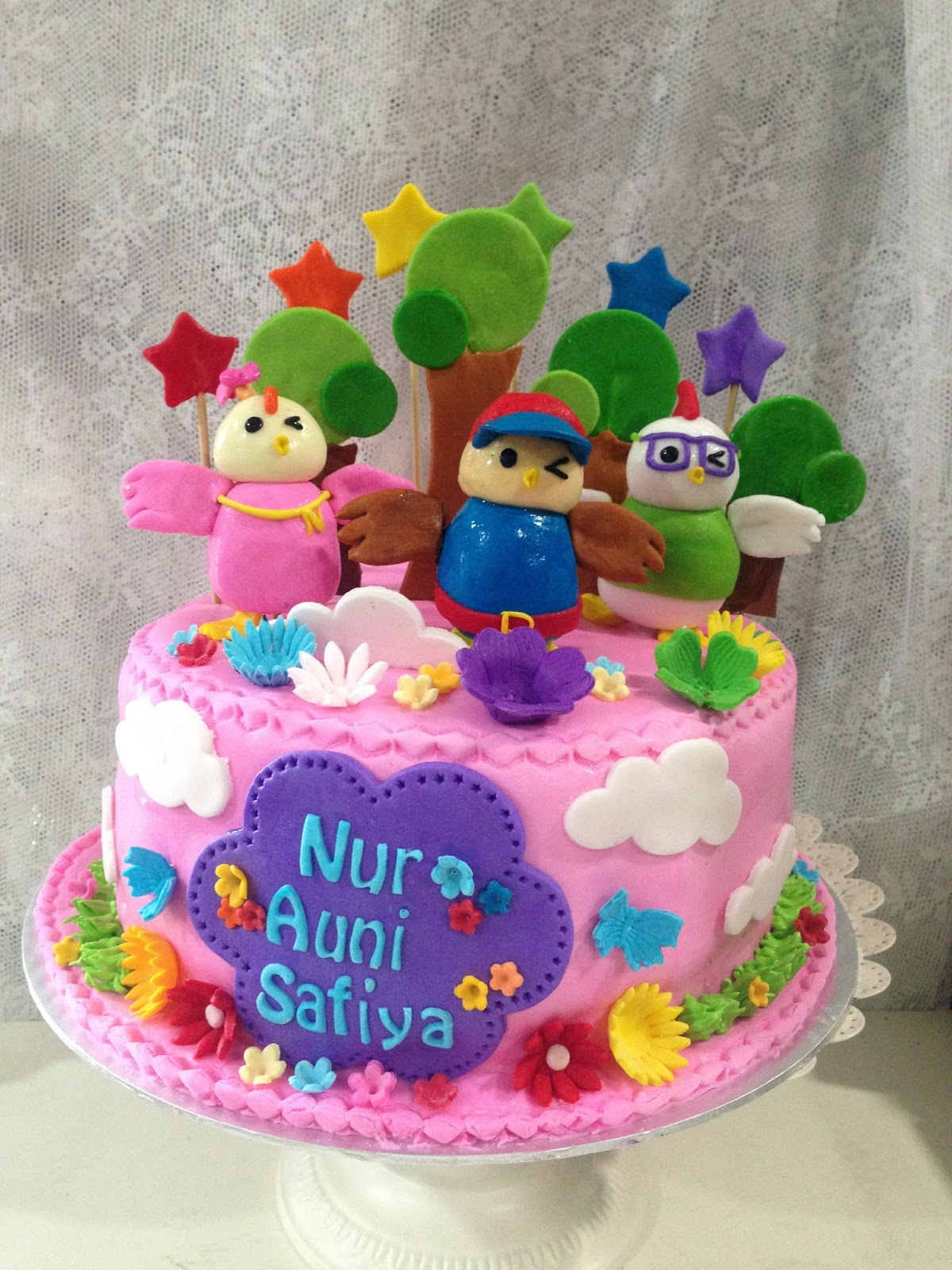 ninie cakes house: Didi & Friends Fondant Birthday Cake