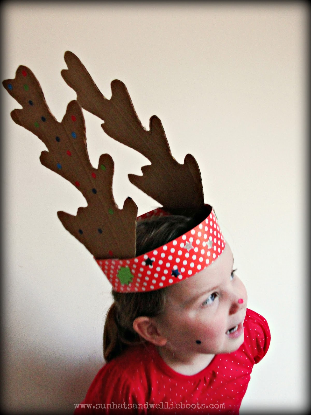 Sun Hats  Wellie Boots DIY Reindeer Antlers made from
