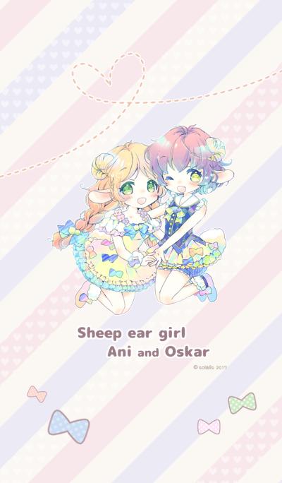 Sheep ear girl Ani and Oskar