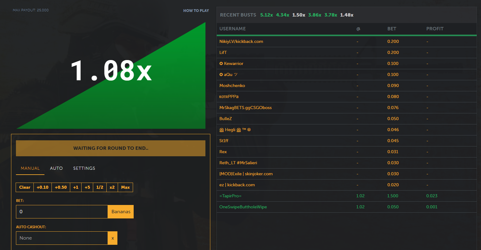 Similar To Many Other Csgo Gambling Sites' Game Known As Crash You Can  Choose To Bet An Amount And Watch The Multiplier Go Up