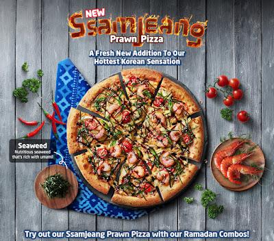 Domino's Pizza, Domino's, Ssamjeang Prawn Pizza